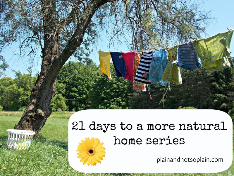 21 days to a more natural home series part 11....fabric softener