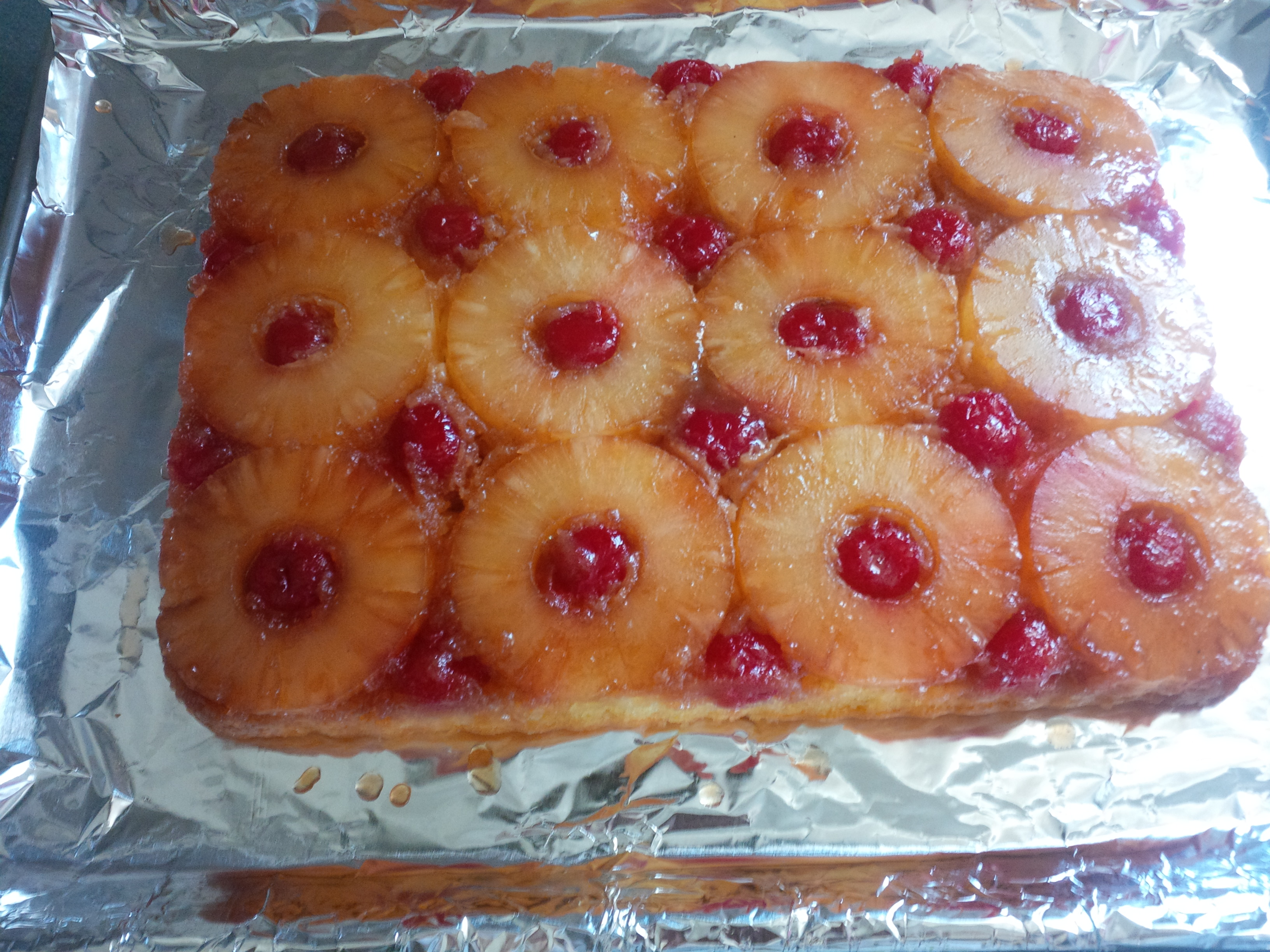 Pineapple Upside Down Cake With Spice Cake Mix
